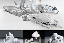 Publicity 3d modeling