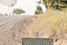 Wedding direction board