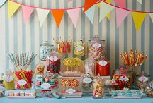 candy party table / by Debra Taylor