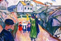 Edvard Munch (1863-1944) / Edvard Munch was a Norwegian painter and printmaker whose intensely evocative treatment of psychological themes built upon some of the main tenets of late 19th-century Symbolism and greatly influenced German Expressionism in the early 20th century.