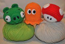 Emoticonos y PAC-MAN crochet