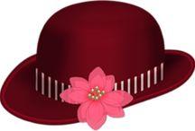 şapka temalı dekupajlar
