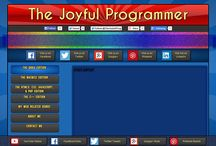 """The Joyful Programmer - BETA Home Page / Follow me on my journey in creating a new home page for my website, TheJoyfulProgrammer.com. See how I go rough draft designs to cool looking and functional parts that might make you wonder, """"How did he do that?"""" For more detailed information, full explanations, reasons why I did what I did, or just to follow my progress on the home page, please visit: http://www.thejoyfulprogrammer.com/qb64/forum/forumdisplay.php?fid=373 and discover my secrets behind the home page."""