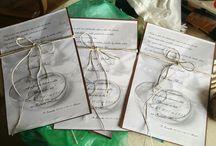 svatební oznámení / vlastní výroba