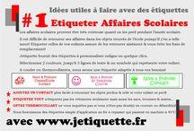 Idées Utiles à Faire avec des Etiquettes!!! / Ce tableau vous présente nos idées utiles jetiquette. Idées utiles & astuces - faites nous parvenir les votres sur notre page Facebook! www.jetiquette.fr
