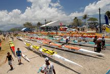 Hawaiki Nui Va'a - Outrigger Canoe Race 2014 / November 2014 makes the 23rd annual Hawahiki Nui Va'a, a world-renowned event that highlights the importance of outrigger canoeing in Polynesian culture. Over the course of three days, teams from all of the world come to the Islands of Tahiti to compete in one of the toughest canoe races beginning in Huahine and ending in Bora bora.