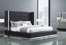 Modern Contemporary Leatherette white Bedroom Collection