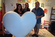 Hearts On Parade / happening In South Florida. Watch how this heart transforms. And then it will be auctioned off for Charity and displayed in Downtown Dort Lauderdale FL.