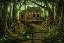 Home in the woods illustrations / by Isabela Valdes