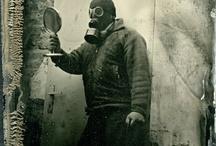 "Mini Series ""Waiting for M10 Gas Mask""  by Jan Kratochvil / Wet Plate Collodion by Jan Kratochvil"