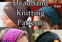 Knitting head bands