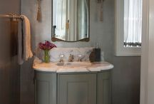 Powder Rooms Facelifts: Lighting / Update your powder room lighting for a quick and easy facelift, like with these Boyd Lighting fixtures that are perfect for bathrooms.