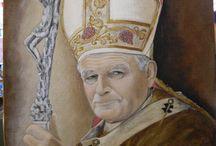 San Giovanni Paolo II / Ritratto su commissione, olio su tela. Opera realizzata dalla DOMUS MARIAE