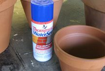 Painting and sealing pots for outside