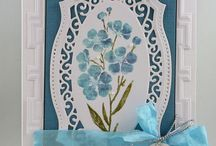 "Stamp:Flowers on a Stem / Handmade cards featuring the stamp ""Flowers on a Stem"" by Hero Arts."
