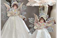 angeli e figure natalizie