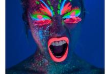 Colori fluorescenti viso