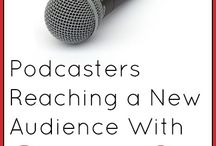 Podcasting pins / A board for all my podcasting stuff / by Regina Keysacker Drury