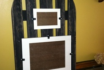 My upcycled creations / adirondack picture frame / by Alicia McDermott