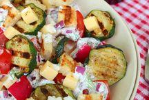 grill és saláták