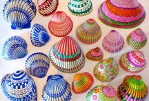 Shells painted