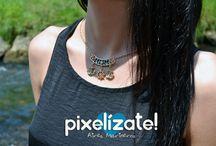 PIXELIZATE :: Collares / handmade necklaces Pixelizate