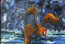 Marian Lupu LUPINO - PRIMORDIAL / painting-oil on canvas-LUPINO-Email: mlupubm@yahoo.com