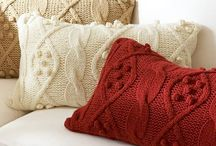 Knitted/ crochet cushions