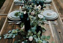 Wedding bali table decor