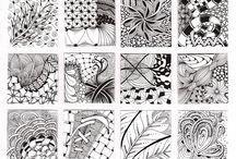 fantasie dier in inkt / inkt structuren en inkt texturen