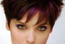 hair colours for short hair funky