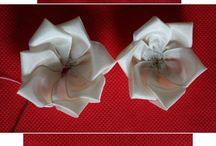 Цветы и банты из текстиля