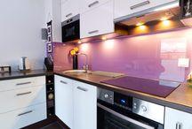 Glass in Kitchens / Kitchen Ideas |  Kitchen Inspirations | Modern Kitchens | Kitchen Designs