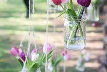Spring Wedding Decor: Beautiful Tulips