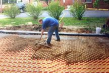 Outdoor Patios  - Home renovation - Landscaping ideas / Creatherm S45 panels being used in outdoor patio floor warming.