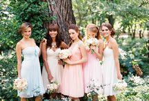 Multicolor Bridesmaid