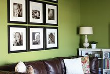 Wall decor with frames / by Amanda Bolin