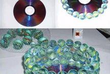 cd skivor och kulor