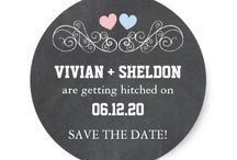 Trendy Chalkboard Wedding Collection / Chic & trendy chalkboard designs for your contemporary wedding or bridal shower!