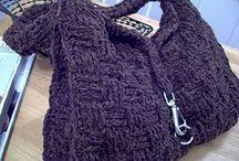 Crochet hobo bags