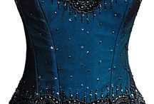 Corset with beads