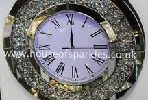 HOS Exclusive Wall Clocks / The perfect gift or finishing touch for your home! Our HOS Wall Clocks!  Love this? Call us on 0118 912 1090 or visit our website!  www.houseofsparkles.co.uk