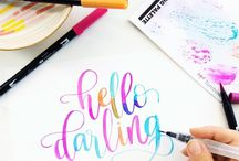 tombow handlettering