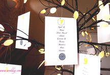 Inspirations de plan de table / Quelques idées de plans de table originaux sur différents thèmes pour éblouir vos invités !