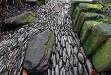 rocks and ponds