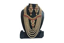 Dazzling Indian Wedding Party Wear Kundan Jewelry Necklace Set