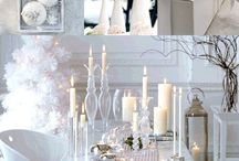 WEDDING ♥ WINTER / WEDDING PARTY DECOR FOR WINTER THEMED CELEBRATIONS