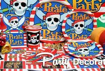 Pirate Party / You don't have to wait until International Talk Like a Pirate Day to dress up and walk the plank! Pirate parties are fun year round, especially for kids birthdays, and great for Halloween too!