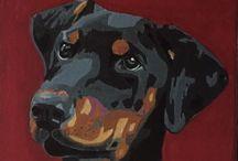 Pop art pet portraits / A selection of lifelike, high end pet portraits from the Tilly & Blue range