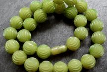 Carved celluloid necklace